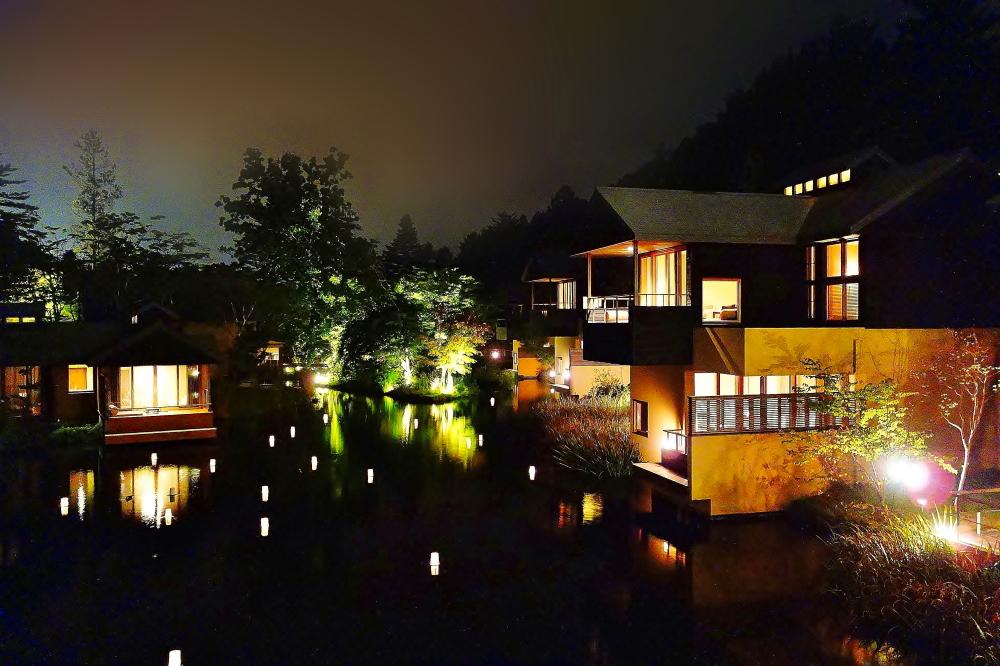 星のや 軽井沢 夜の写真