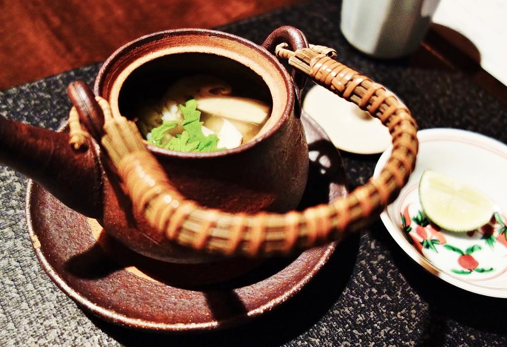 星のや軽井沢 食事 土瓶蒸し 松茸