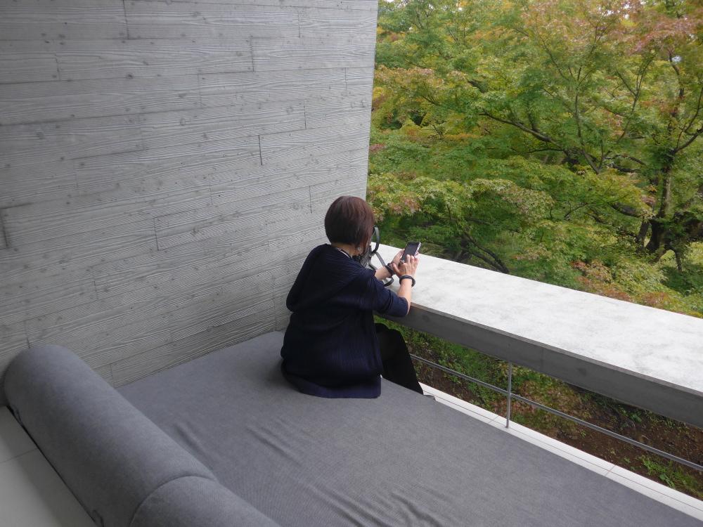 星のや富士 テラスリビング 部屋からの眺め