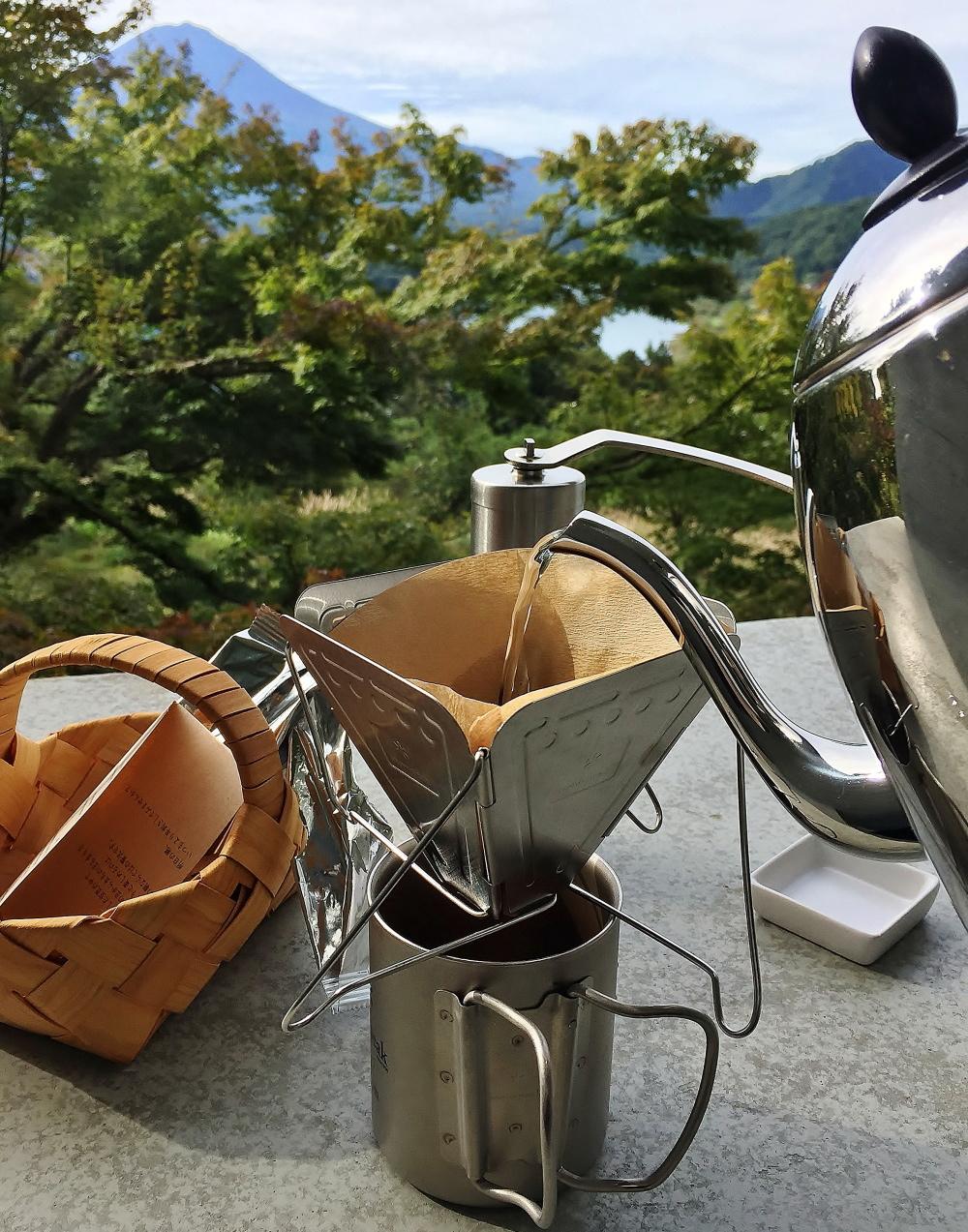 キャンプ用品 コーヒーミル 折り畳み式ドリッパー