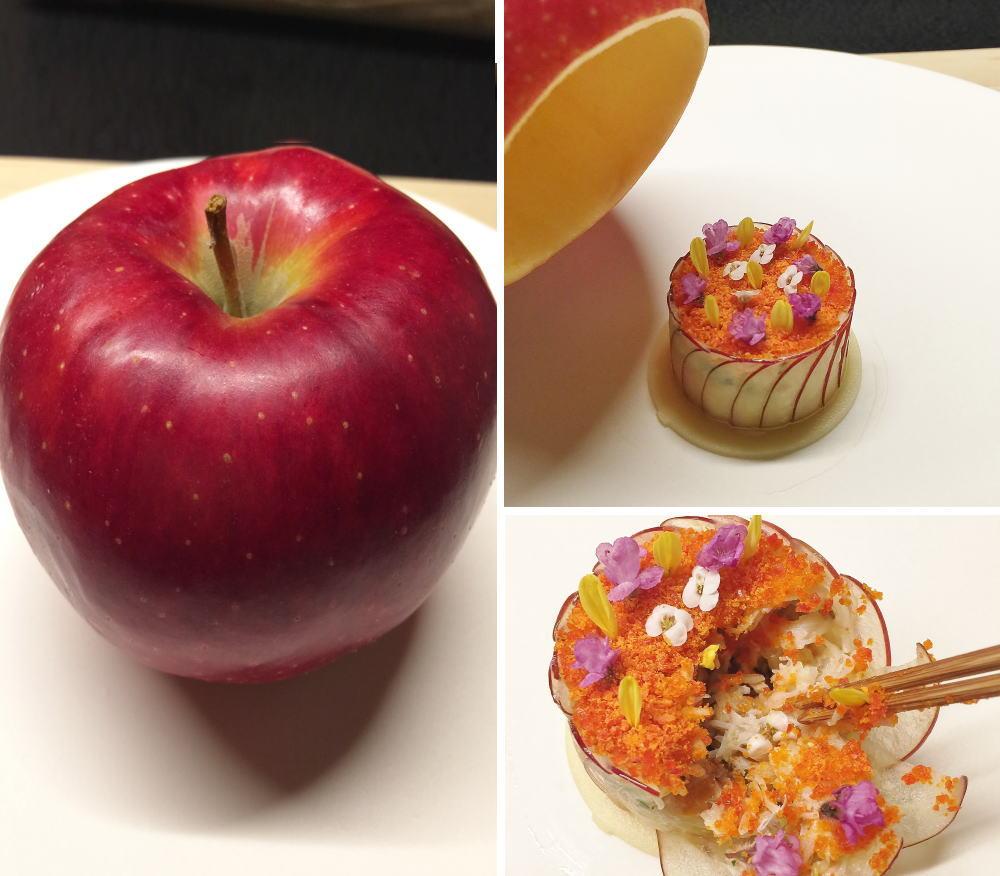 リンゴと蟹