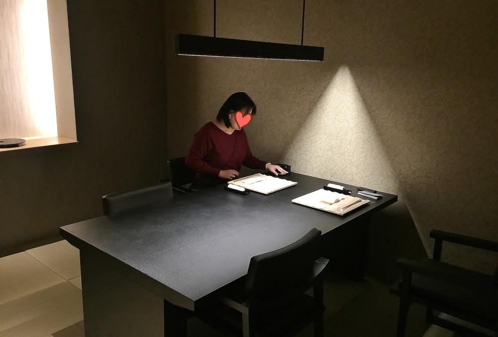 星のや東京 夕食 個室