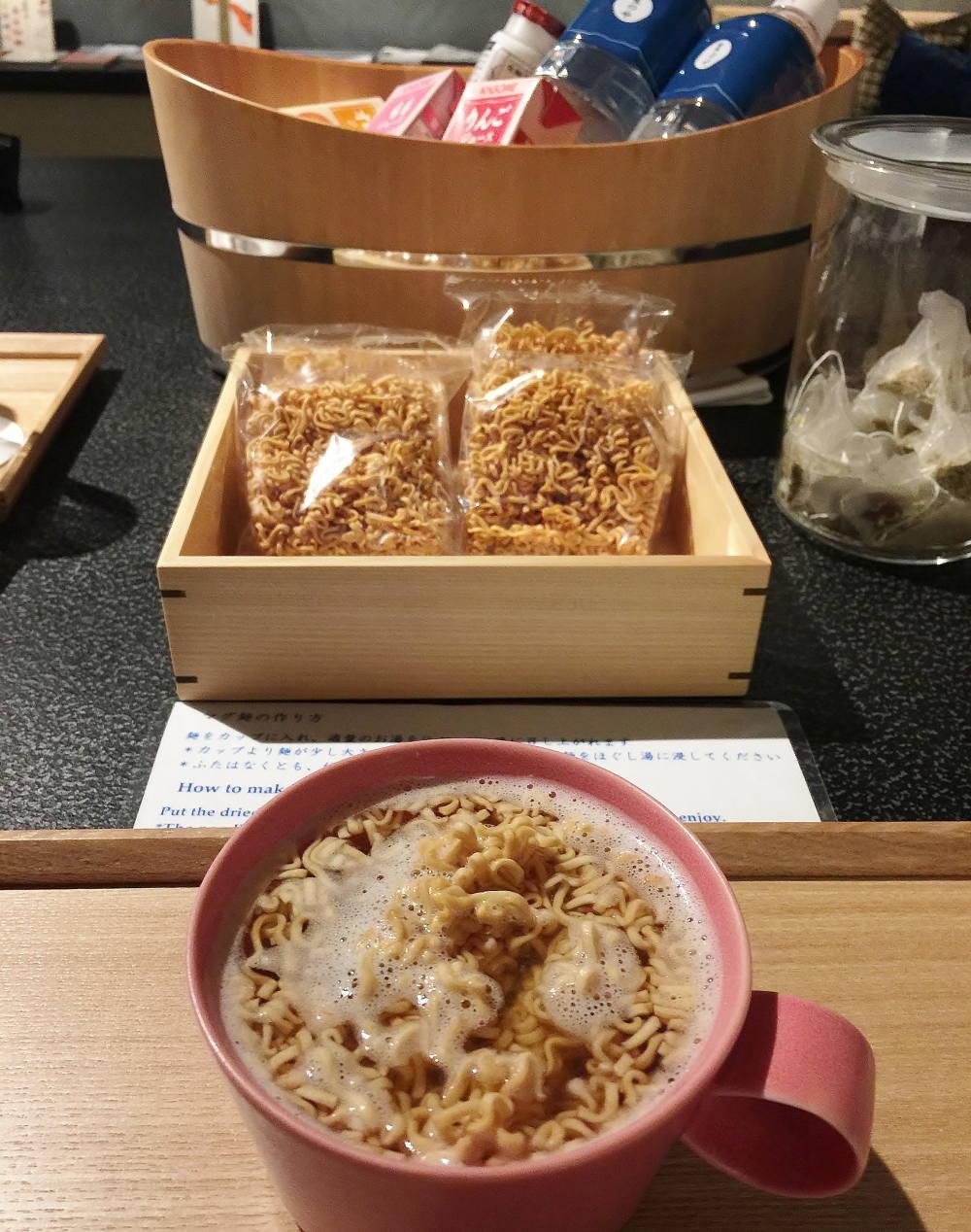 星のや東京 夜食 ラーメン