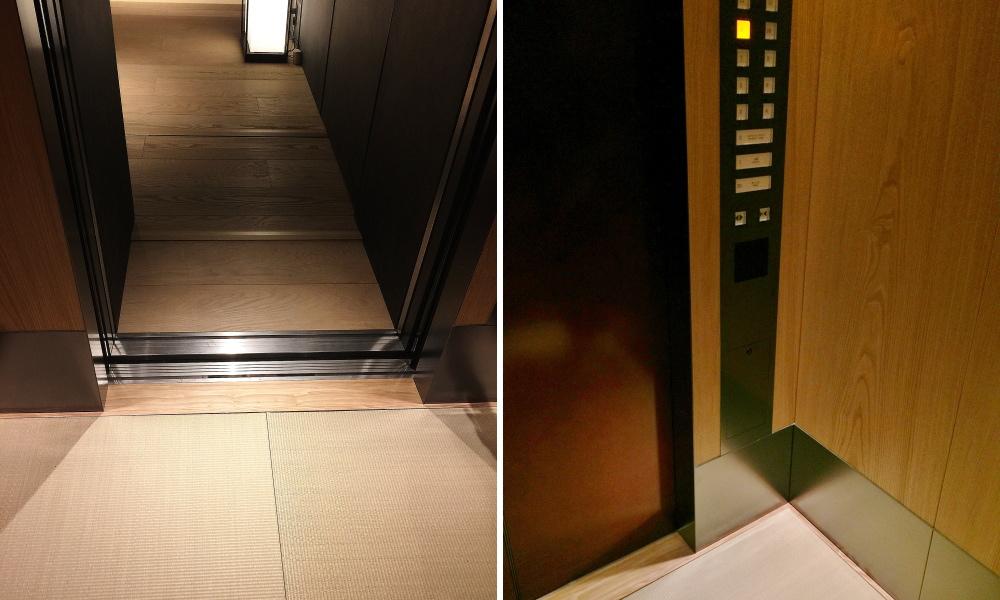 星のや東京 エレベーター