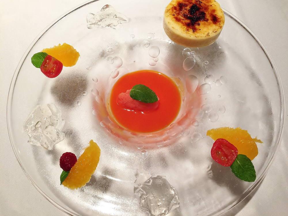 レモンチェロのシブースト ブラッドオレンジジュース