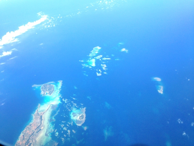 石垣島を上空から