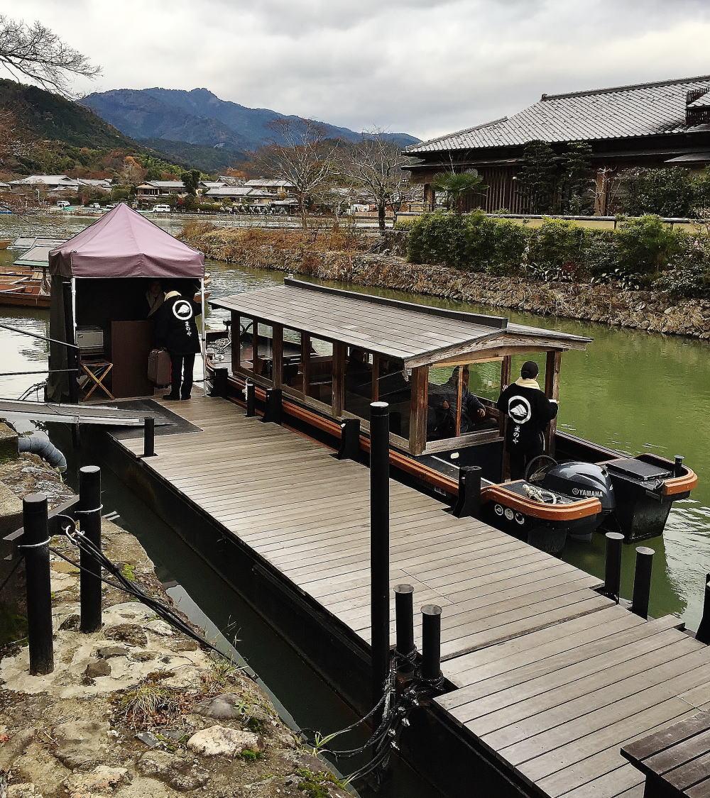 星のや京都 専用船着き場 渡月小橋