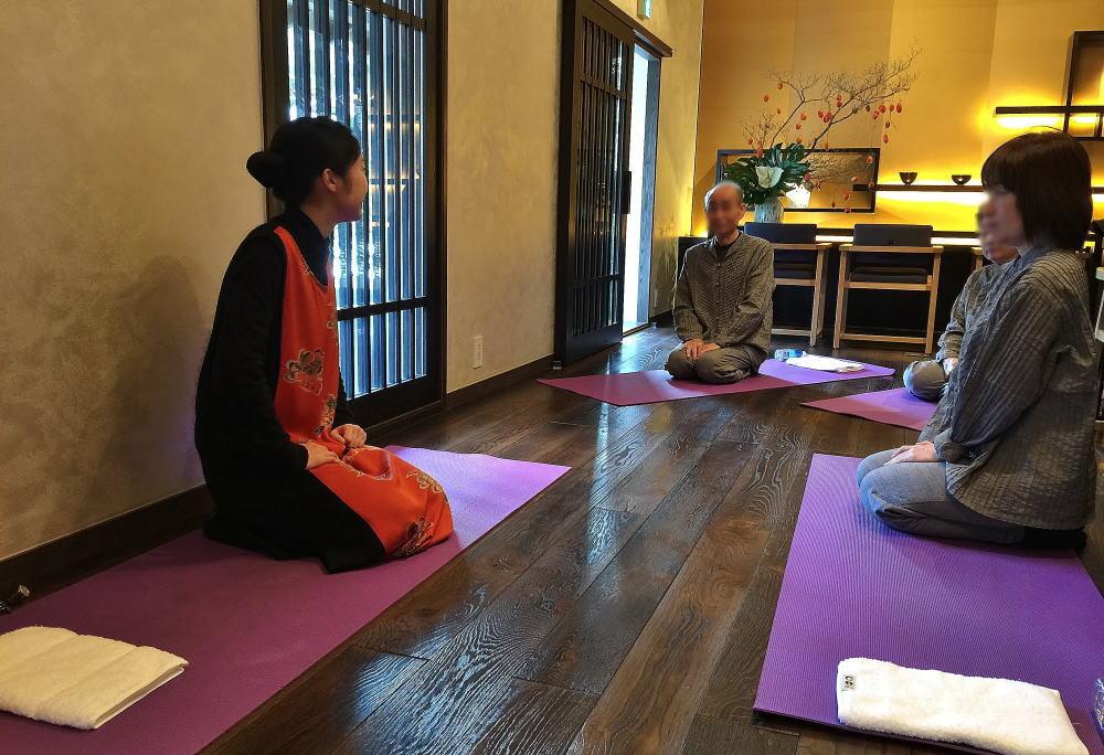 星のや京都 朝の体操