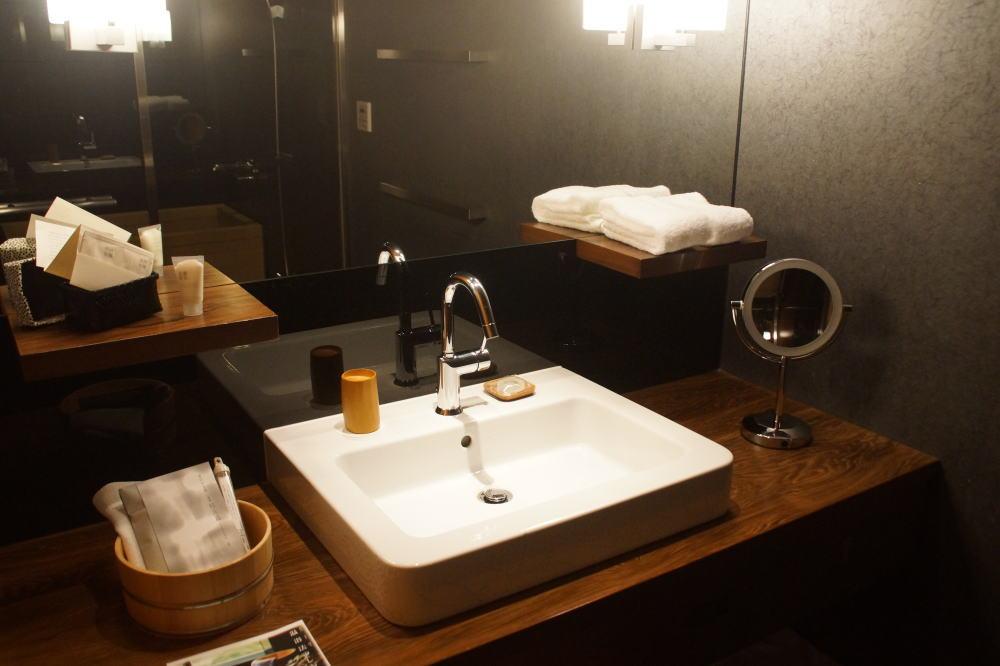 星のや京都 洗面台