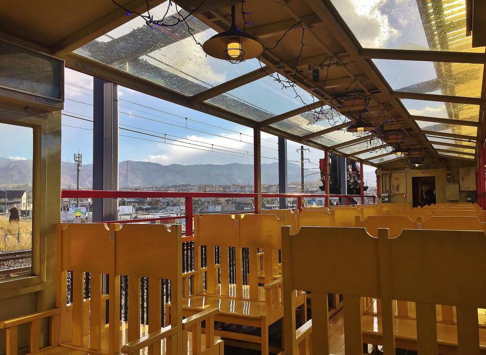 嵯峨野観光列車 トロッコ列車 テラス車両