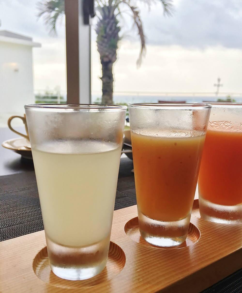 海洋深層水と柚子のジュース