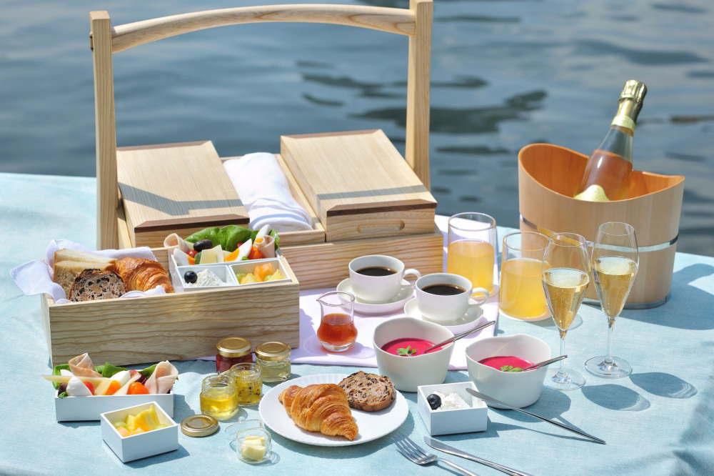 東京・夏の朝の舟あそび 食事内容