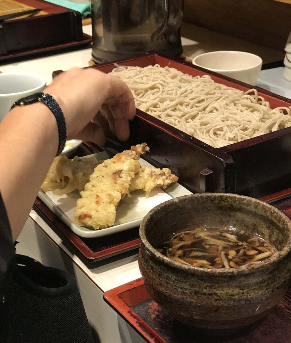 みとう庵 ちくわの天ぷら きざみ鴨ソバ