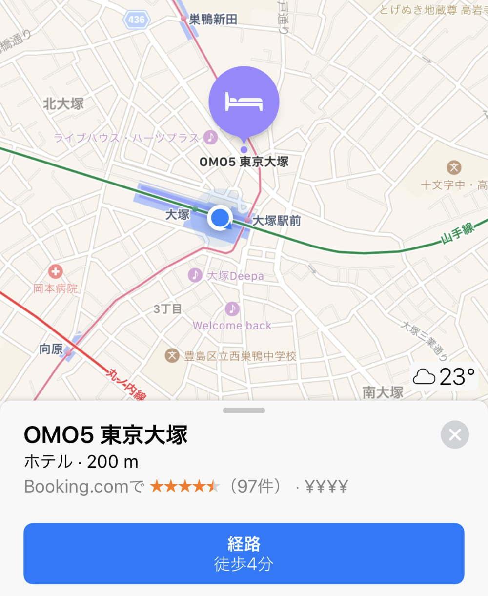 OMO5東京大塚 地図