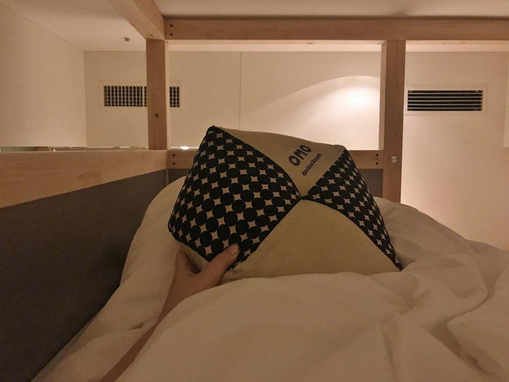 OMO5やぐらルームの上 ベッドの様子