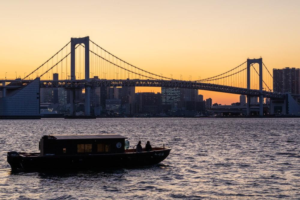 桟敷席から望む東京の絶景