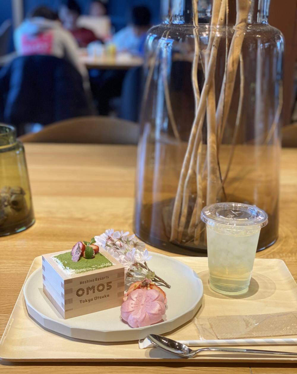 omoカフェ お花見スイーツセット